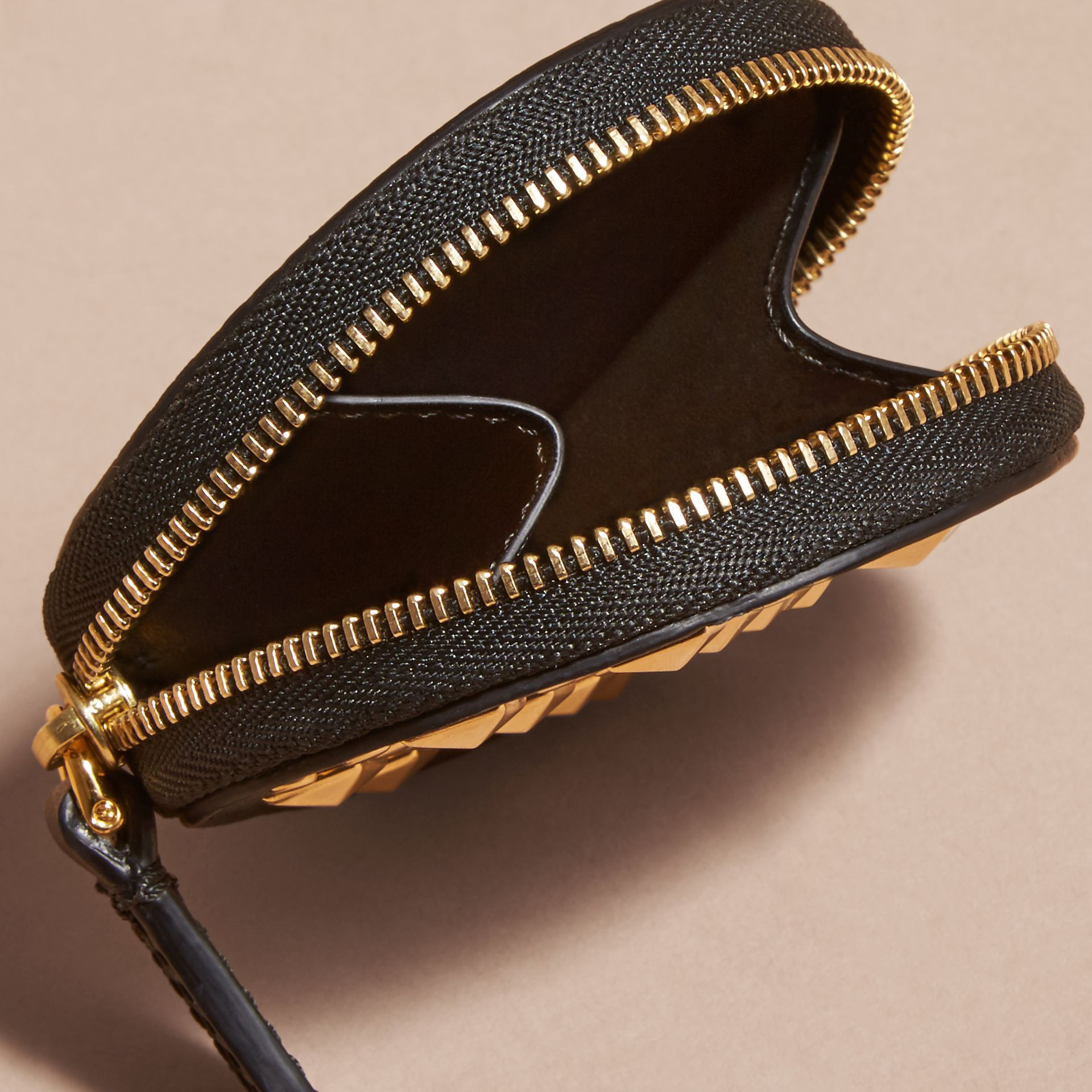 Studded Leather Coin Case - gallery image 5