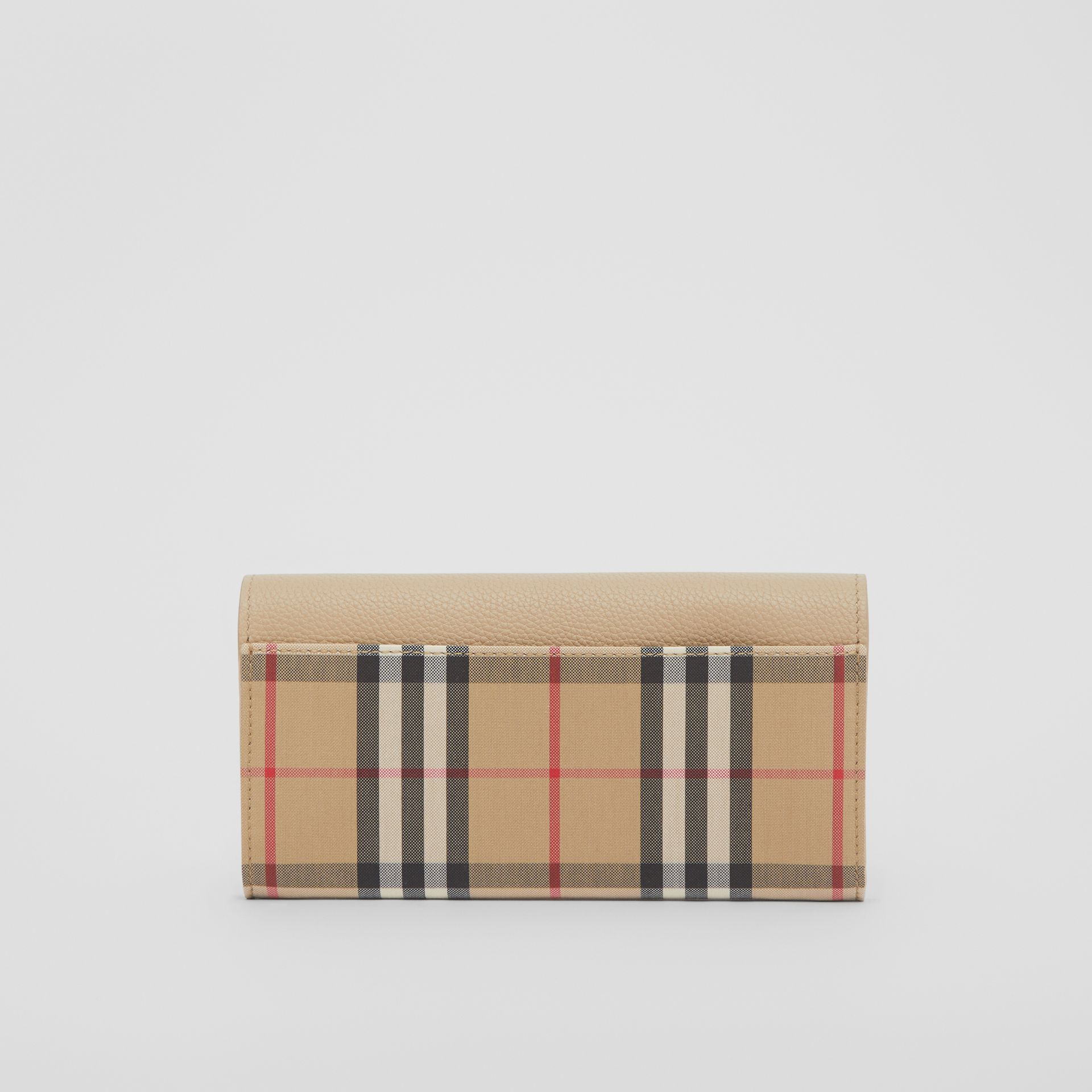 Vintage Check and Leather Continental Wallet in Light Beige - Women | Burberry - gallery image 5