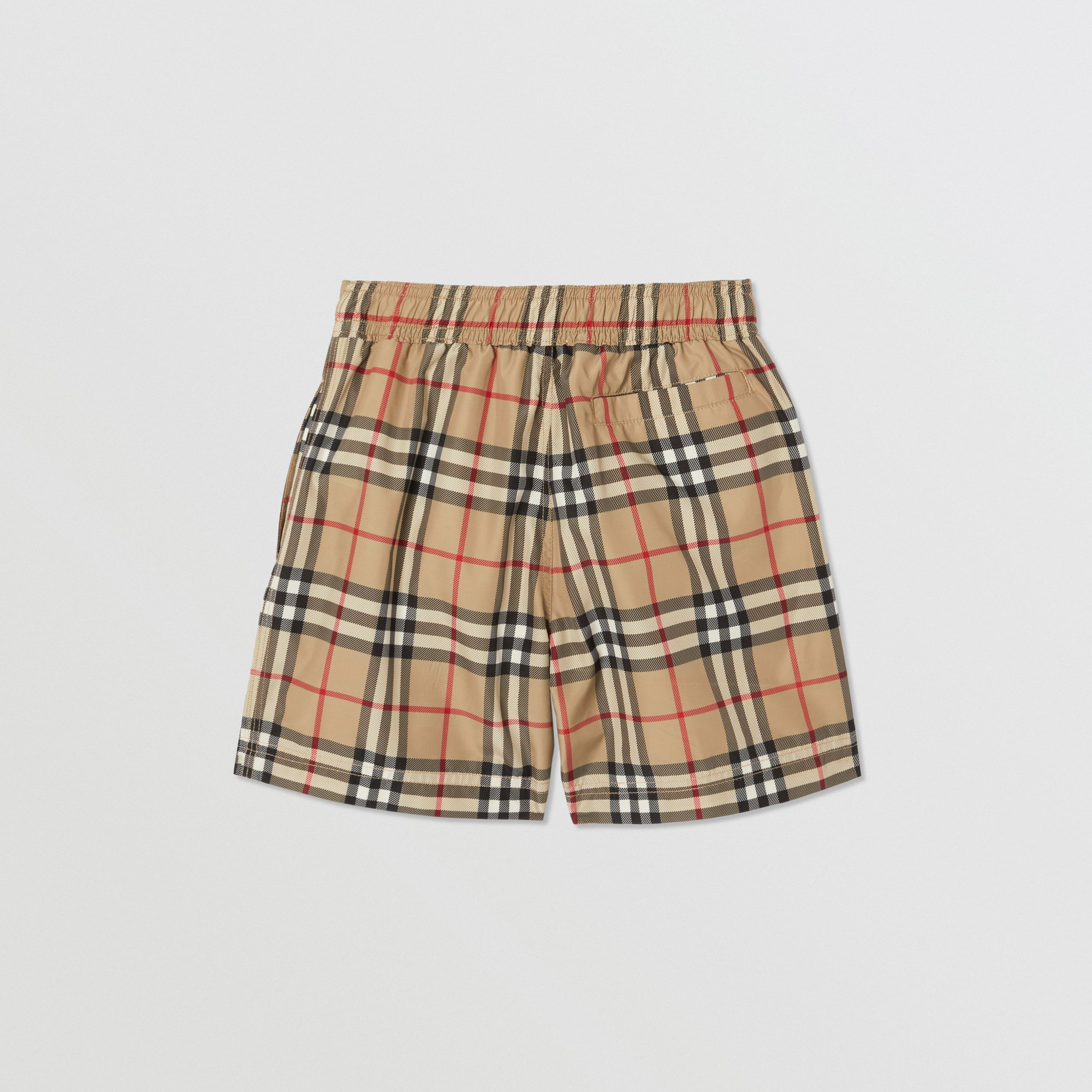 Logo Appliqué Vintage Check Swim Shorts in Archive Beige | Burberry - 4