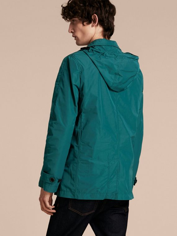 Showerproof Hooded Coat with Removable Warmer Bright Teal - cell image 2