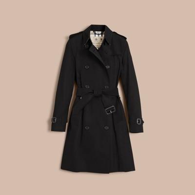 The Kensington – Long Heritage Trench Coat Black | Burberry