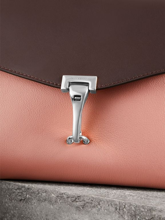 Two-tone Leather Crossbody Bag in Dusty Rose/deep Claret - Women | Burberry United Kingdom - cell image 1