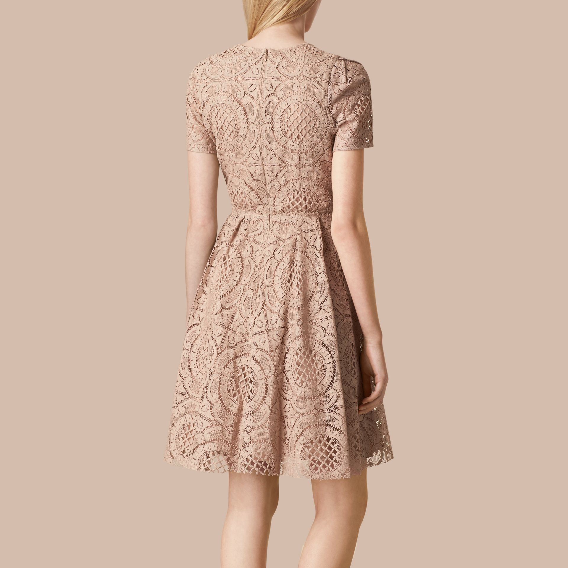 Nude English Lace A-Line Dress Nude - gallery image 2