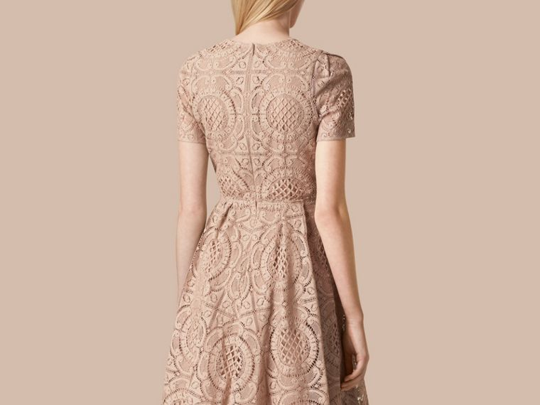 Nude English Lace A-Line Dress Nude - cell image 1
