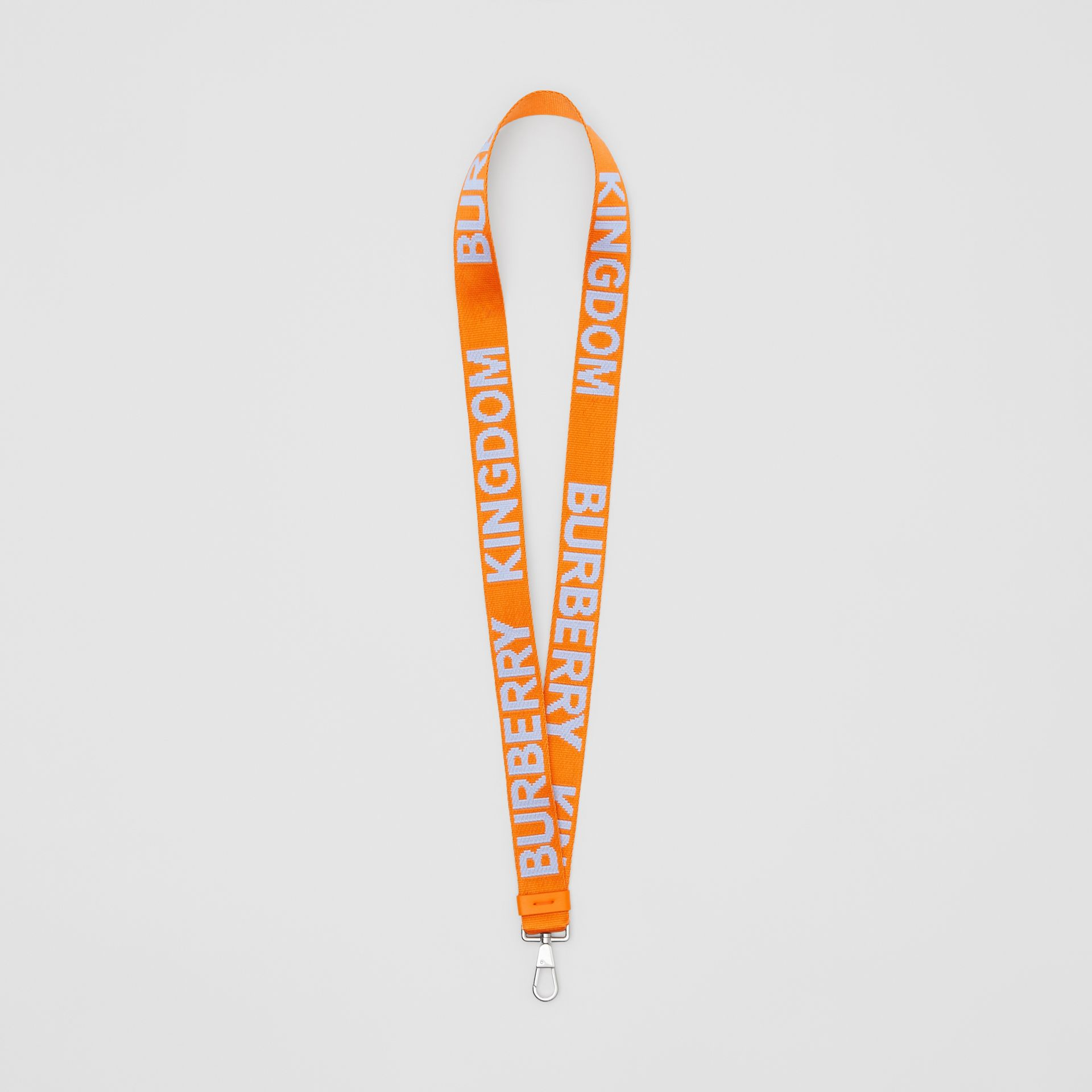 Logo Jacquard Lanyard in Baby Blue/bright Orange - Men | Burberry - gallery image 0
