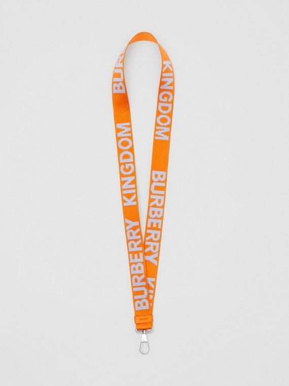 Ремешок-ланъярд с логотипом (Нежно-голубой / Ярко-оранжевый)