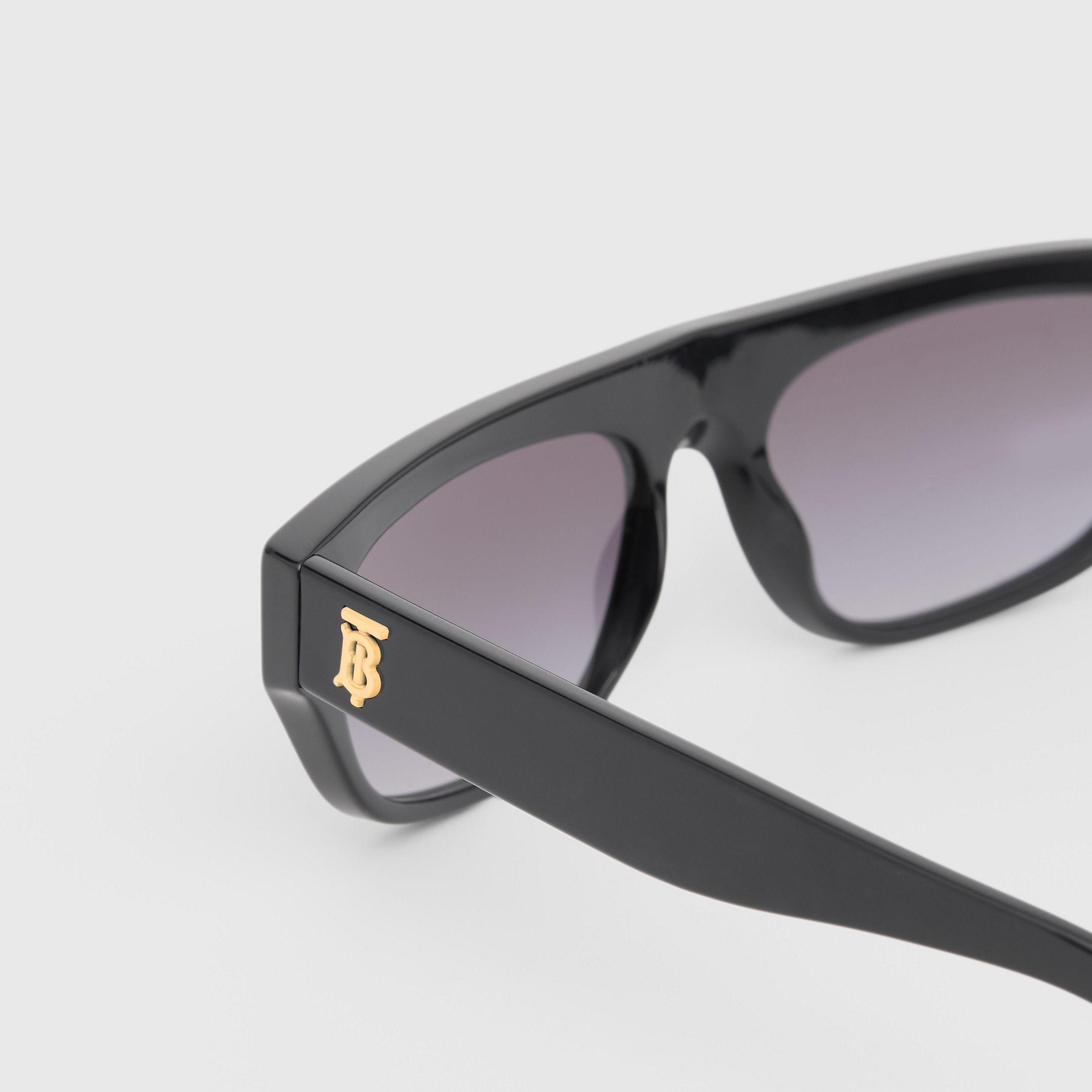 Monogram Motif Rectangular Frame Sunglasses in Black - Women | Burberry - 2