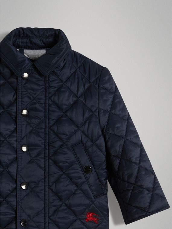 Lightweight Diamond Quilted Jacket in Ink | Burberry - cell image 3