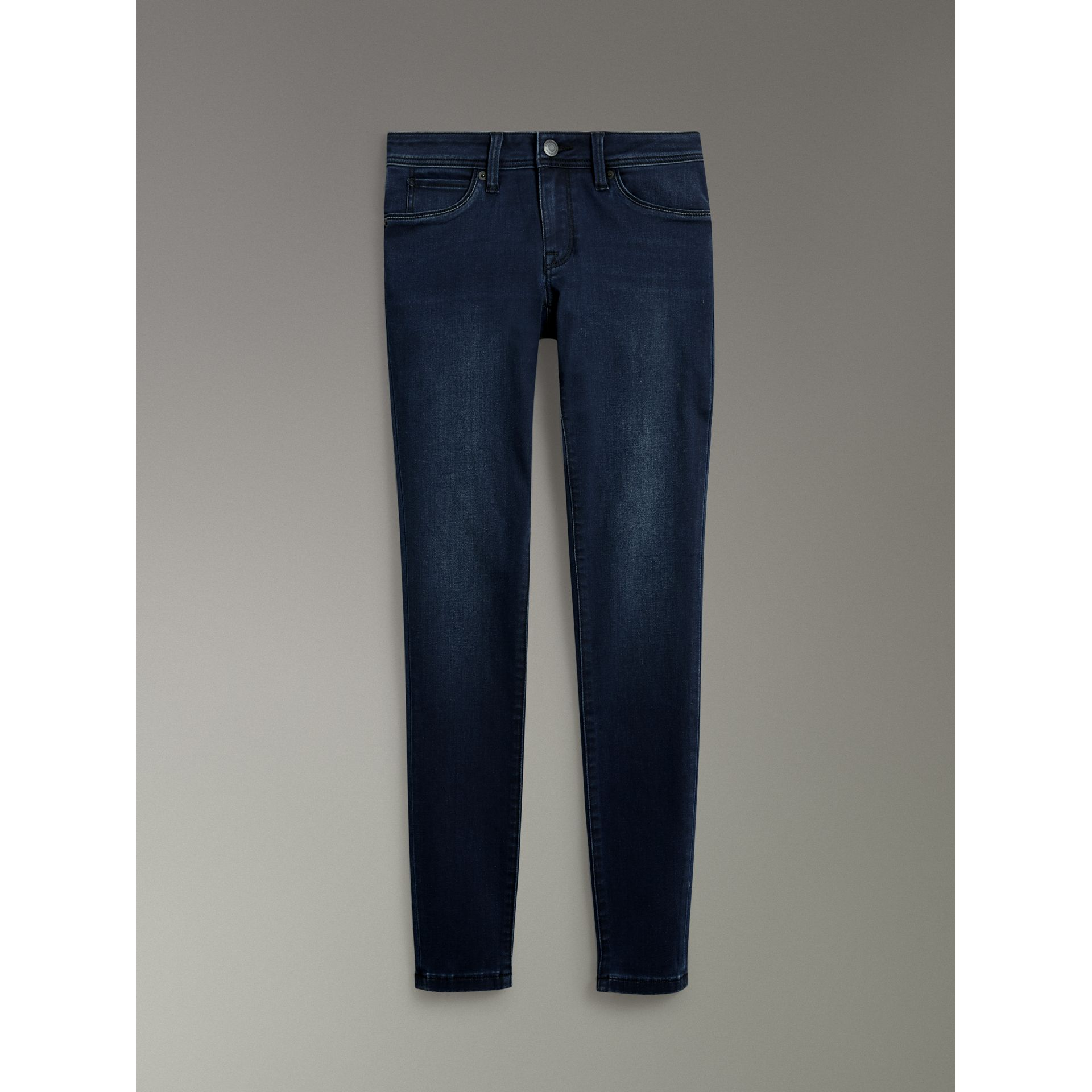 Skinny Fit Low-rise Dark Indigo Jeans - Women | Burberry United Kingdom - gallery image 3
