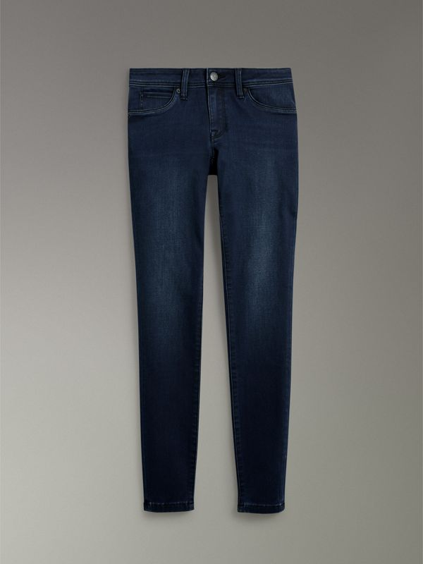 Skinny Fit Low-rise Dark Indigo Jeans - Women | Burberry - cell image 3