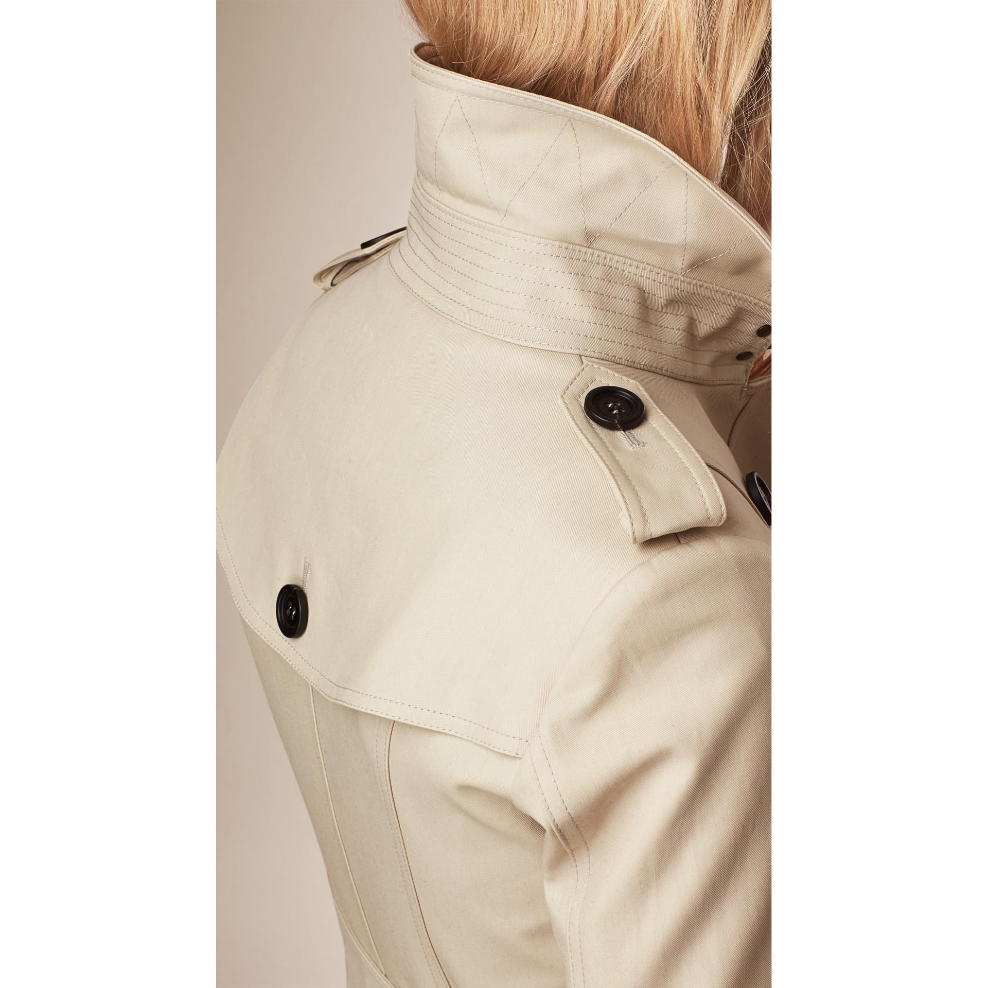 Cotton Gabardine Trench Coat in Stone - gallery image 3