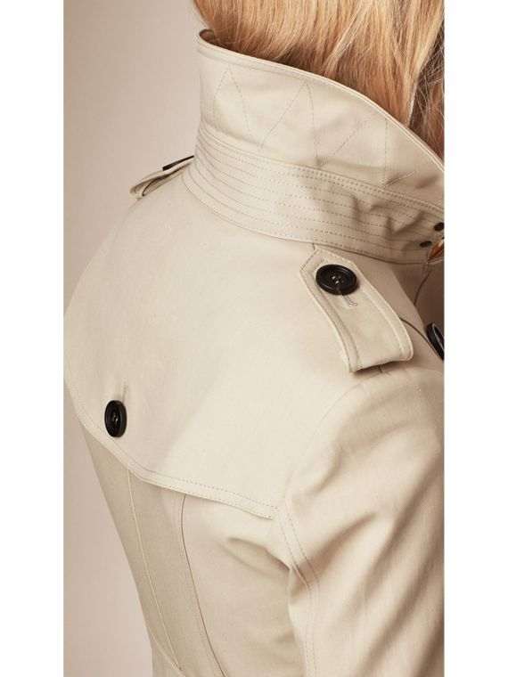 Cotton Gabardine Trench Coat in Stone - cell image 2