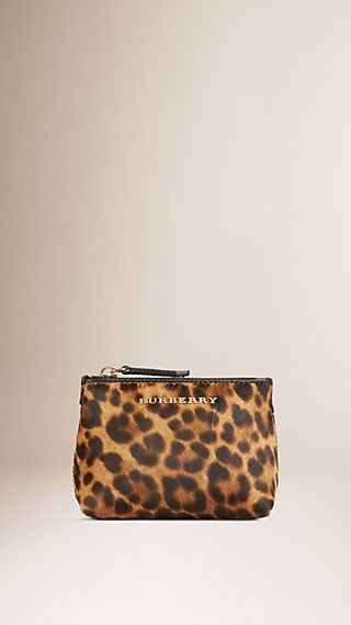 Animal Print Calfskin Lipstick Case