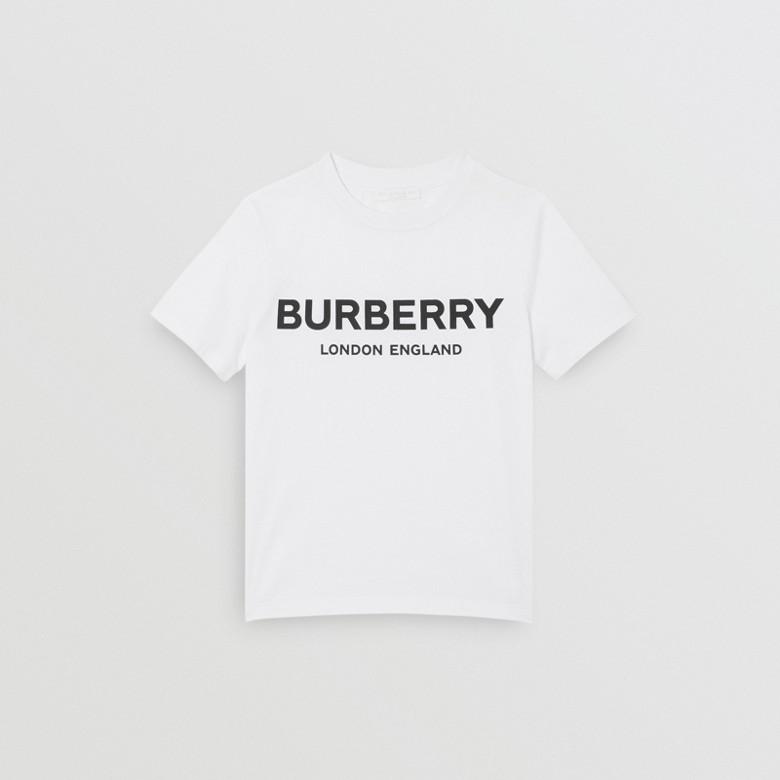 Burberry - T-shirt en coton avec logo imprimé - 1