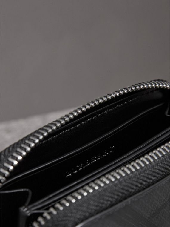 London Check Ziparound Coin Case in Black/charcoal - Men | Burberry Singapore - cell image 3