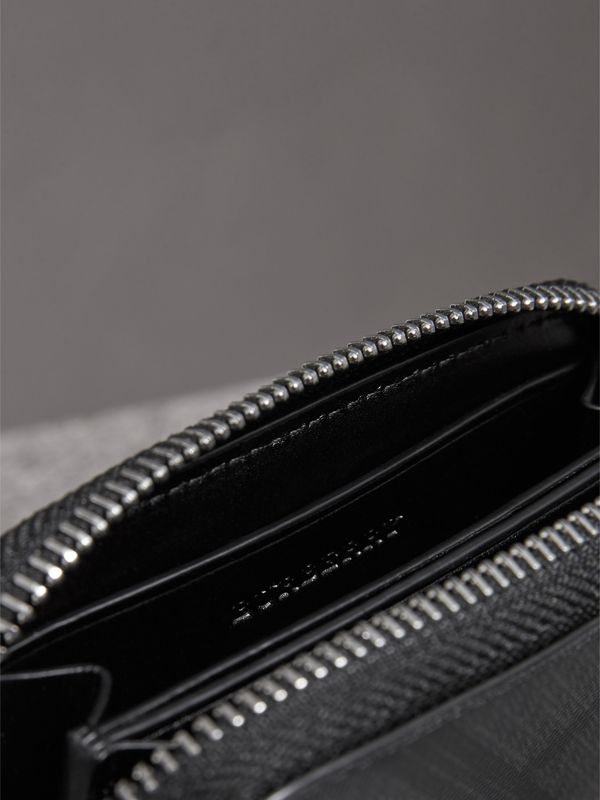 London Check Ziparound Coin Case in Black/charcoal - Men | Burberry - cell image 3
