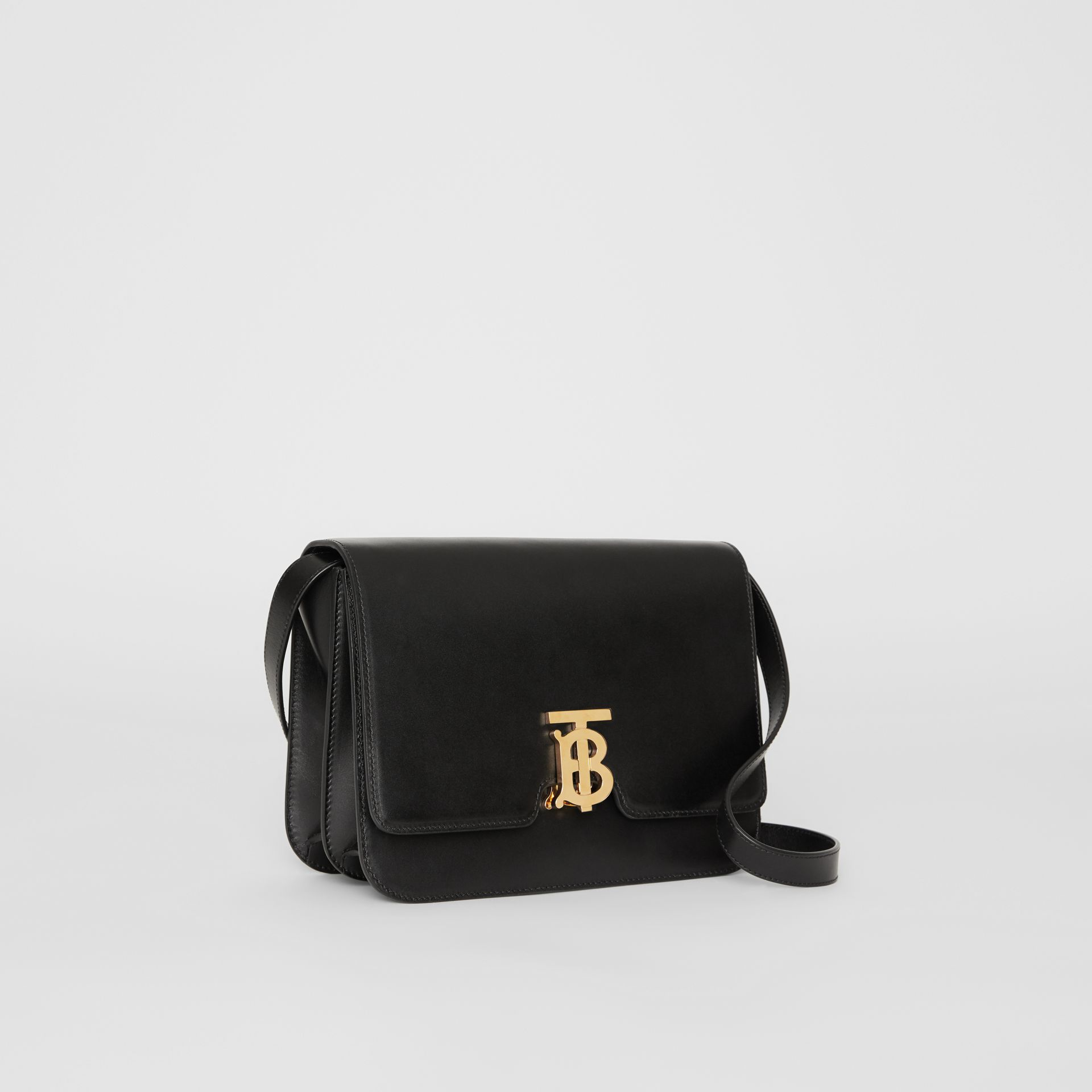 Medium Leather TB Bag in Black - Women | Burberry Australia - gallery image 6