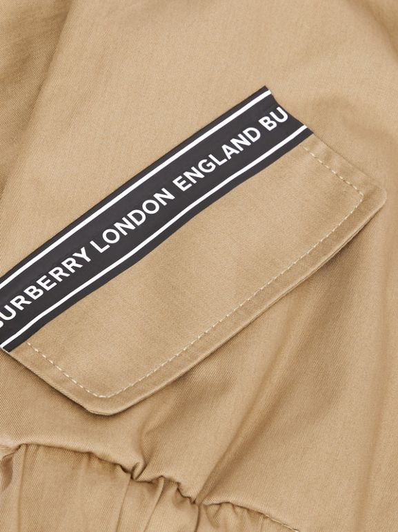 Logo Tape Cotton Harrington Jacket in Honey - Children | Burberry Singapore - cell image 1