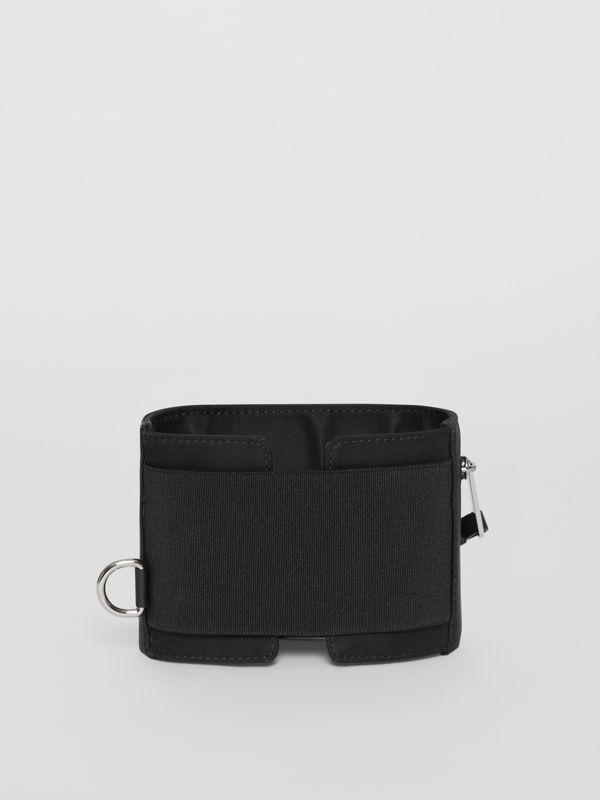 Logo Print Nylon Armband Pouch in Black - Men | Burberry - cell image 3