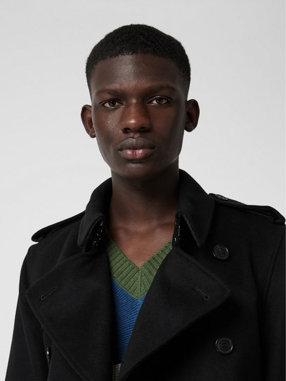 Wool Cashmere Trench Coat in Black - Men | Burberry United States - cell image 1