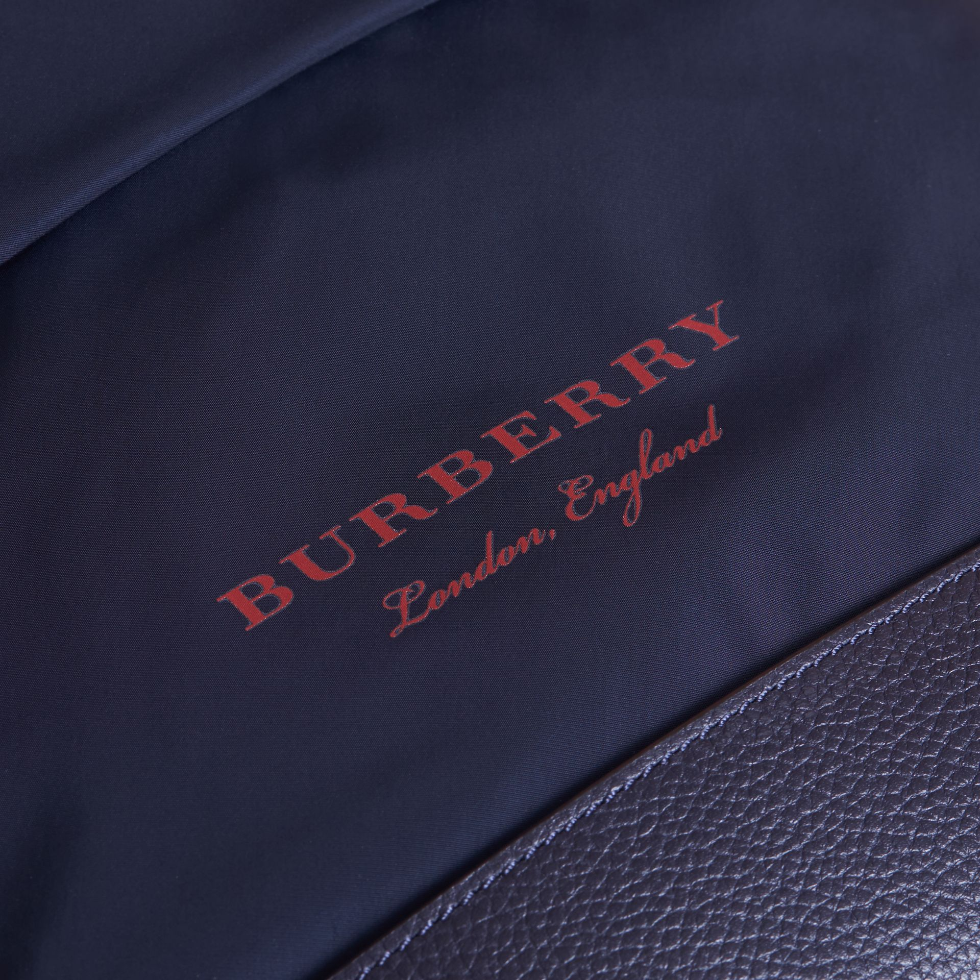 Leather Trim Lightweight Backpack in Ink | Burberry - gallery image 2