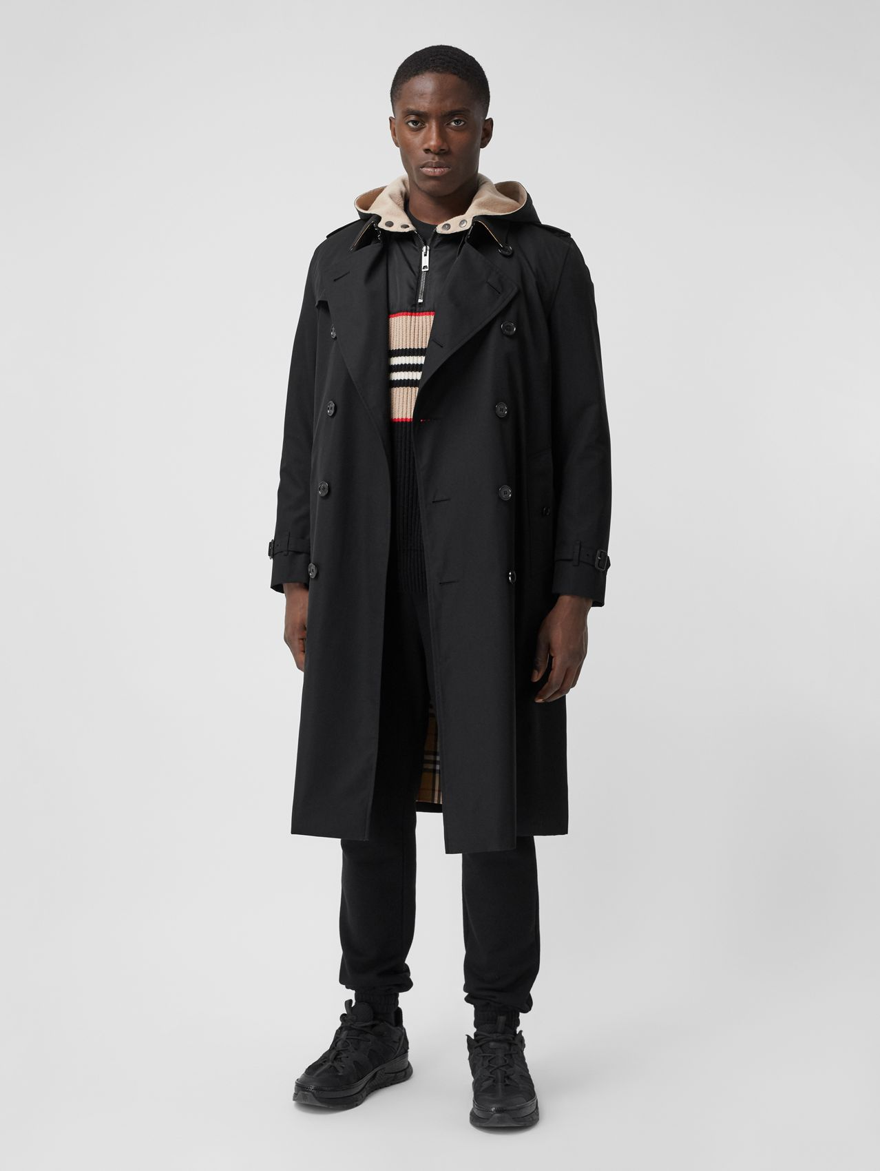The Kensington - Trench coat Heritage longo in Preto