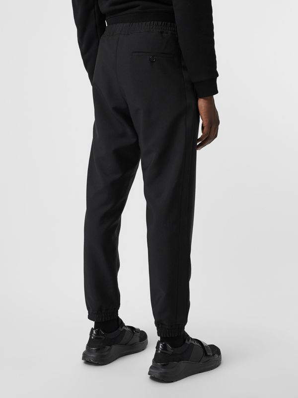 Wool Mohair Tapered Trousers in Black - Men | Burberry Singapore - cell image 2