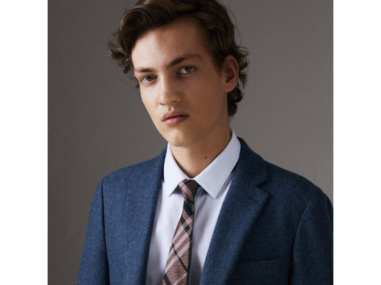Modern Cut Check Silk Tie in Pale Fuchsia - Men | Burberry Singapore - cell image 2