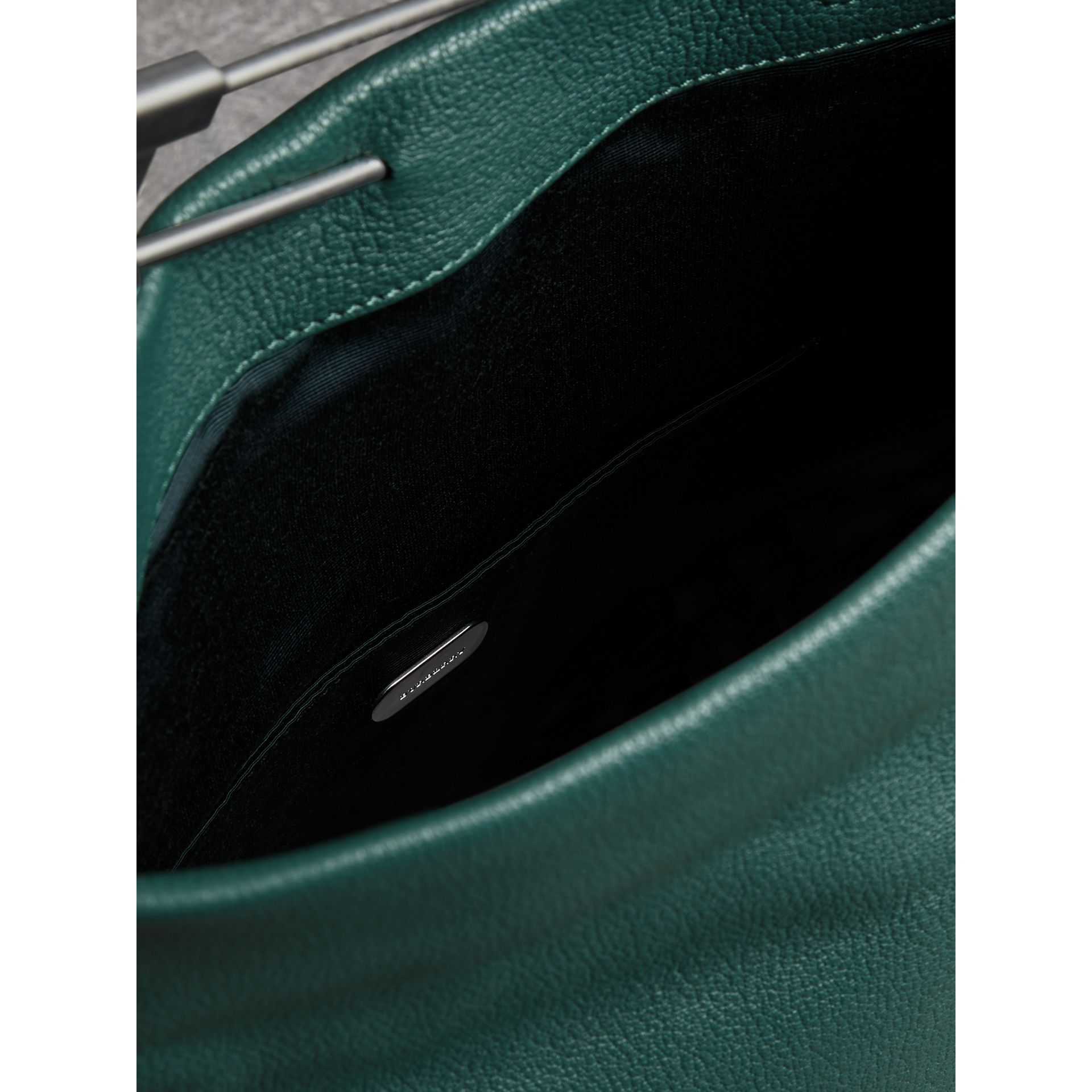 The Medium Pin Clutch in Leather in Sea Green - Women | Burberry United Kingdom - gallery image 5