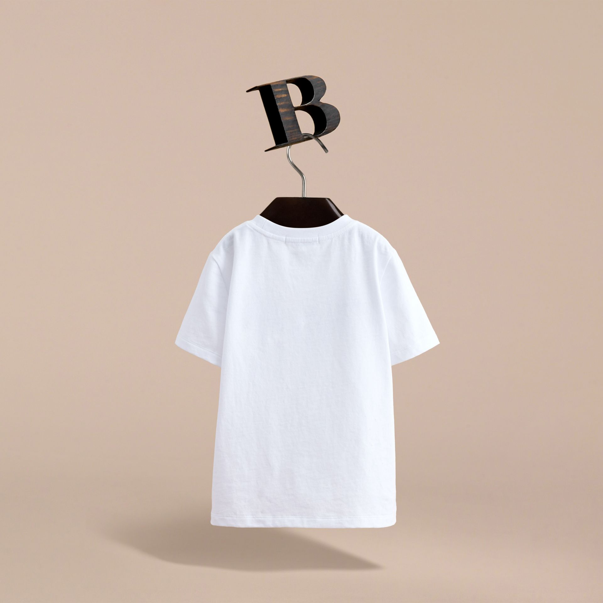 London Icons Print Cotton T-shirt in White - Boy | Burberry - gallery image 4