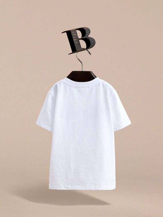 London Icons Print Cotton T-shirt in White - Boy | Burberry - cell image 3
