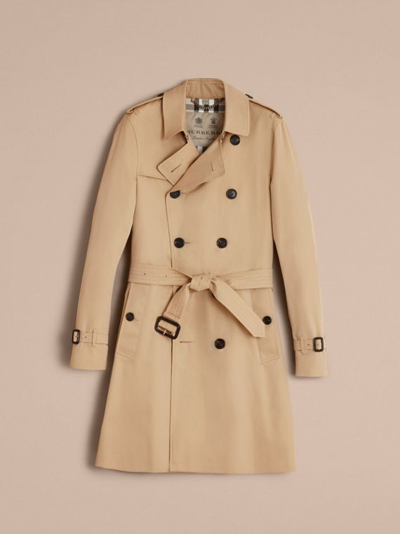 Trench coat Sandringham – Trench coat Heritage largo (Miel) - Hombre | Burberry - cell image 3