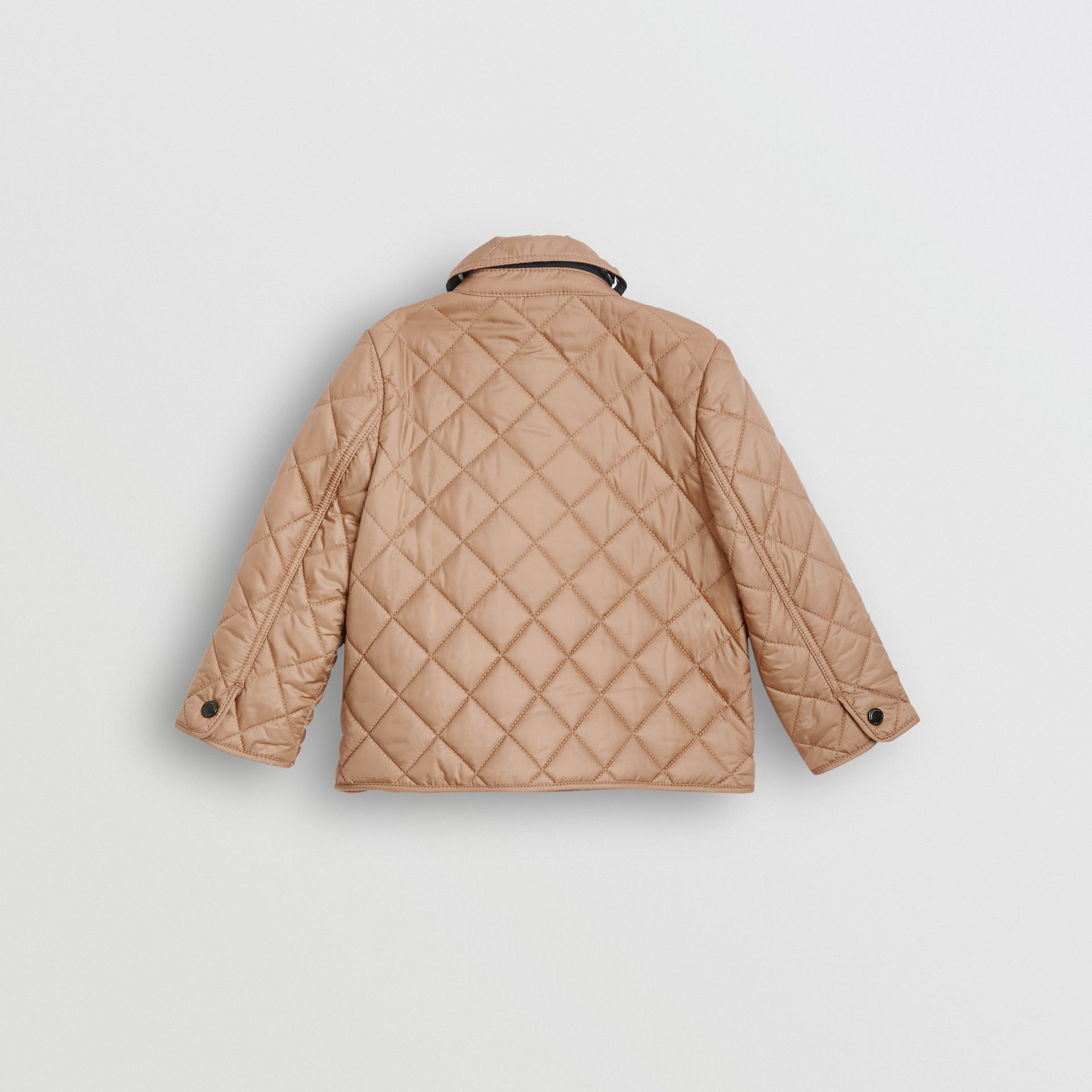 Lightweight Diamond Quilted Jacket in Camel - Children | Burberry Hong Kong - gallery image 3