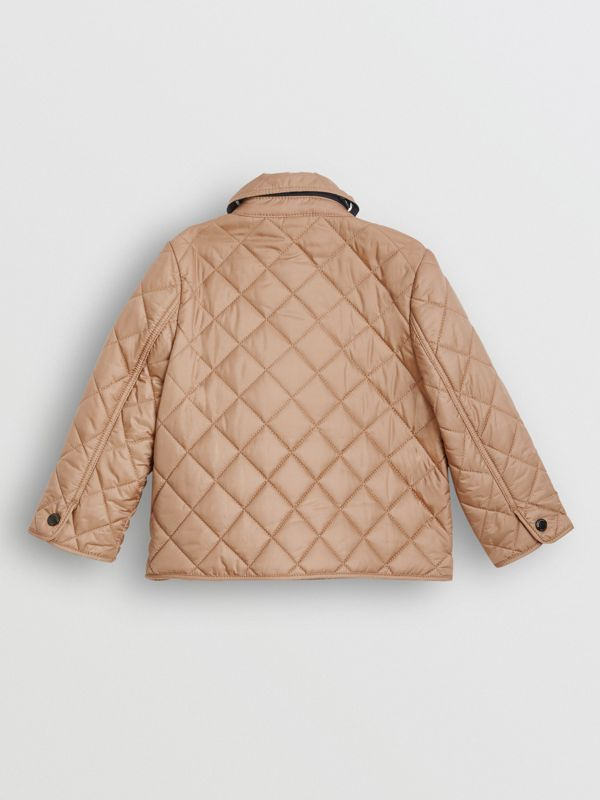 Lightweight Diamond Quilted Jacket in Camel - Children | Burberry Hong Kong - cell image 3