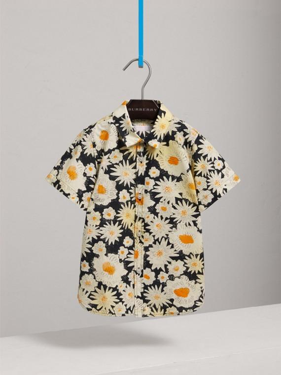 Kurzärmeliges Hemd mit Gänseblümchenmuster (Schwarz) - Jungen | Burberry - cell image 2