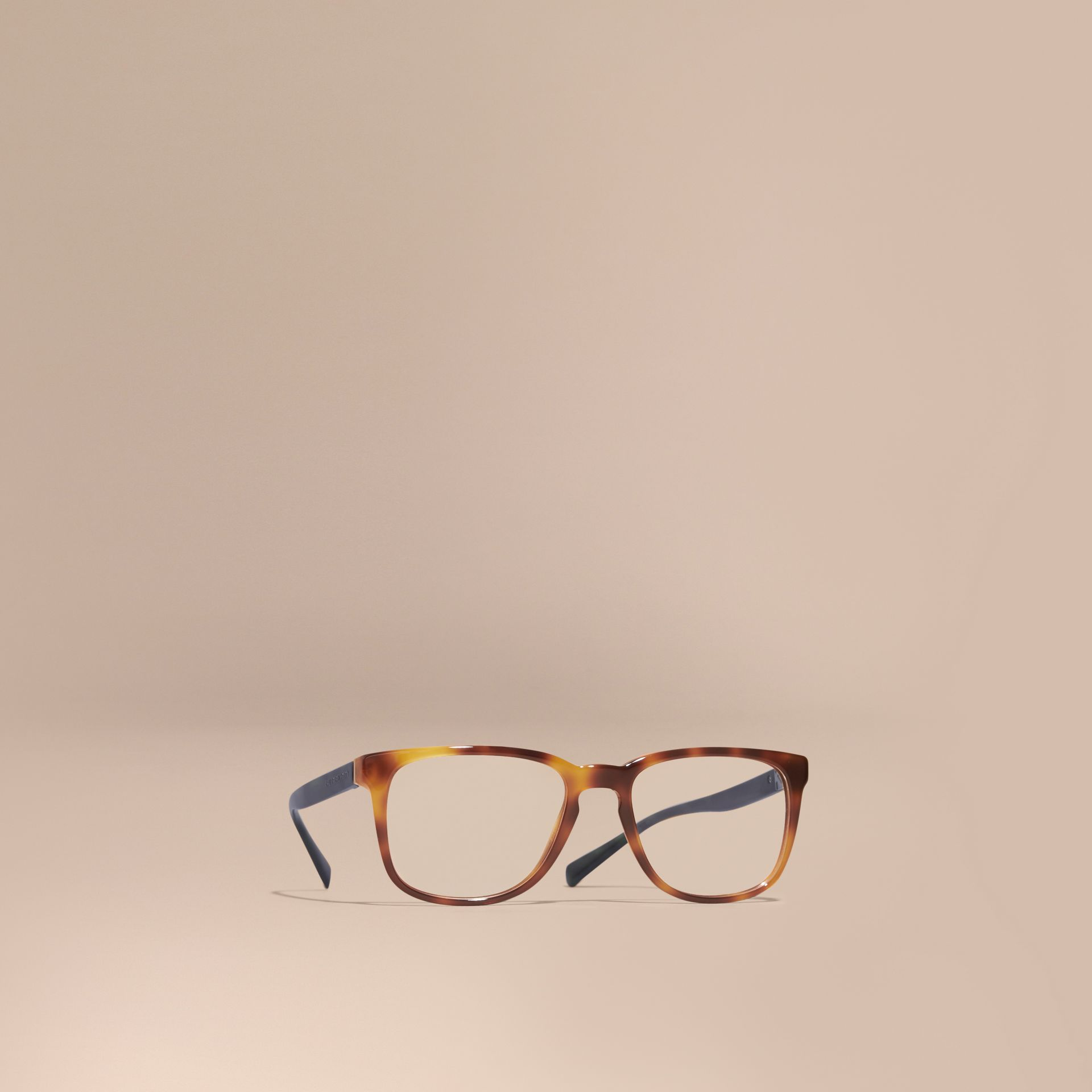 Square Optical Frames in Tortoise Shell - gallery image 1