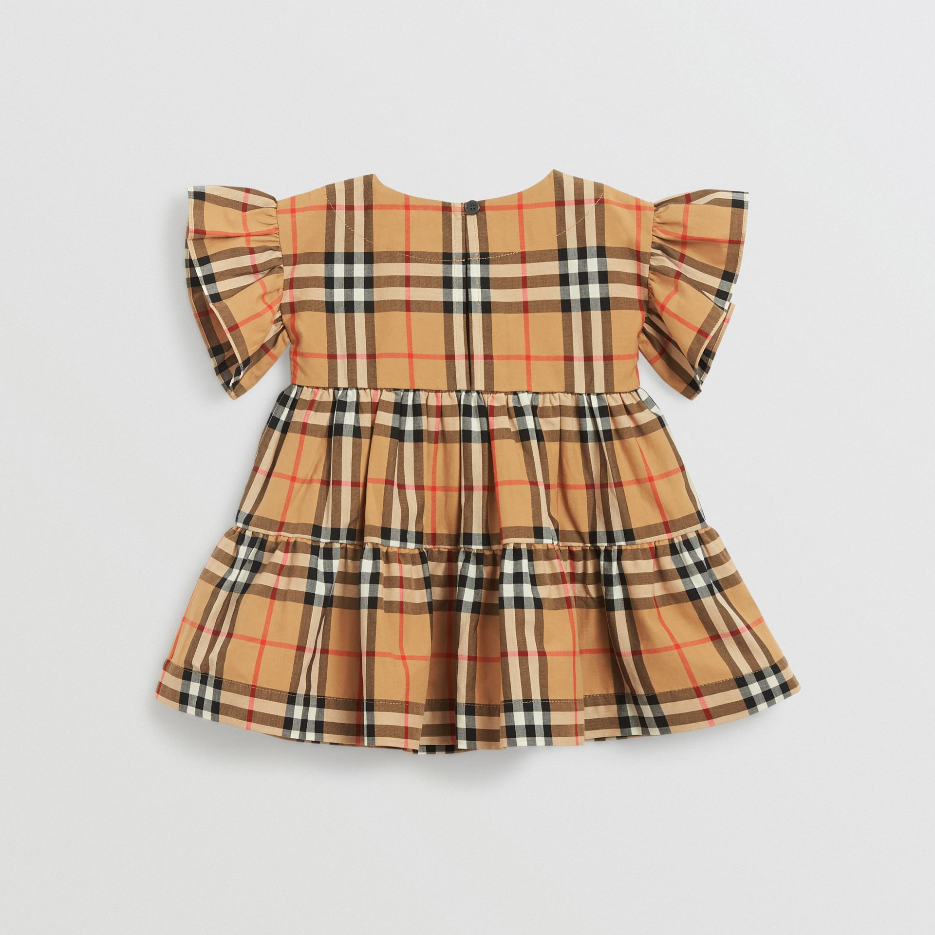Ruffle Detail Vintage Check Dress with Bloomers in Antique Yellow - Children | Burberry Canada - gallery image 3