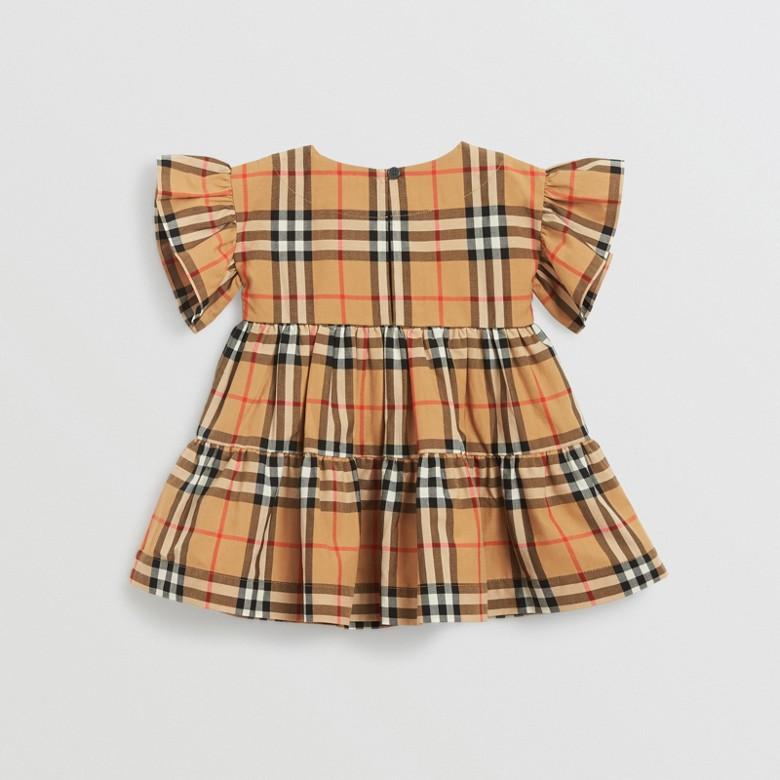 Burberry - Robe et bloomer à motif Vintage check avec volants - 4