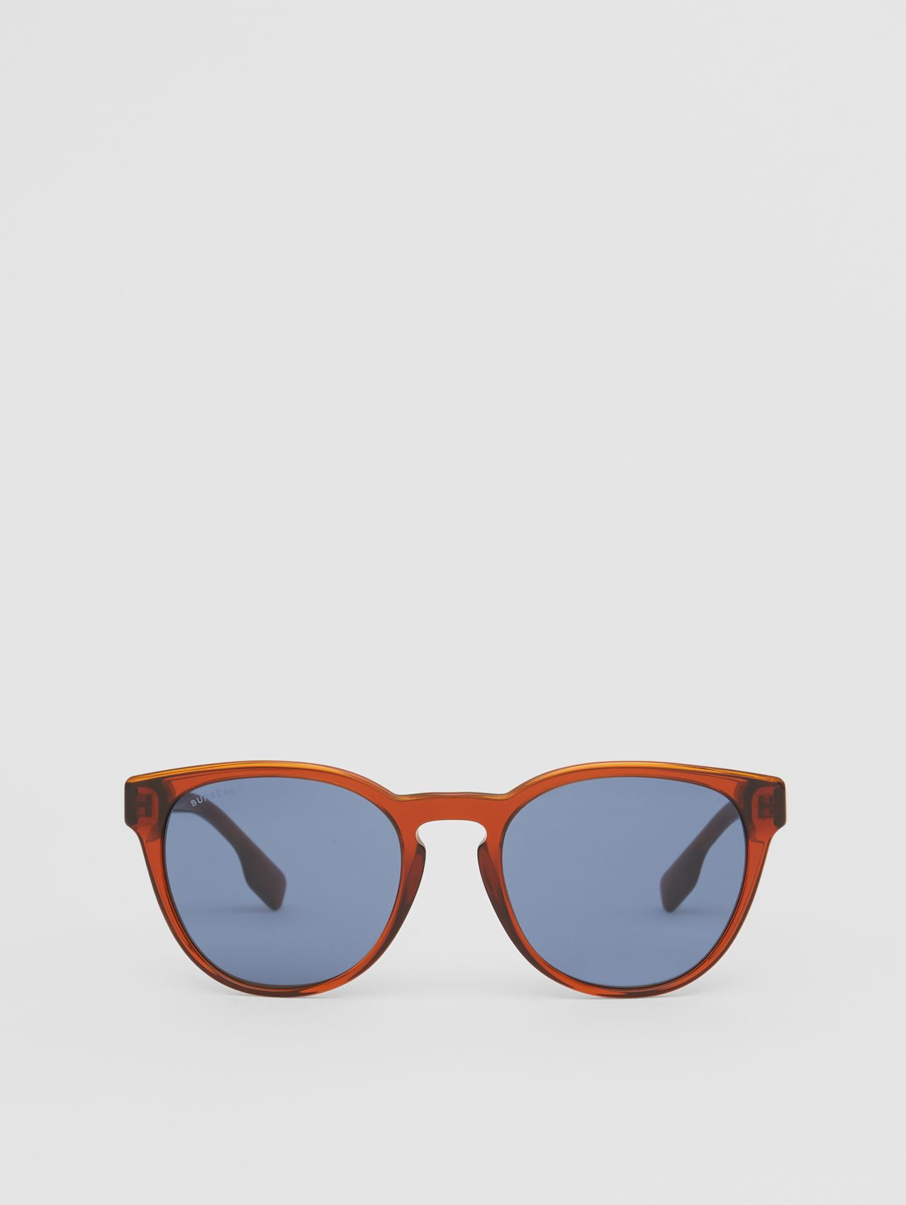 Round Frame Sunglasses in Amber