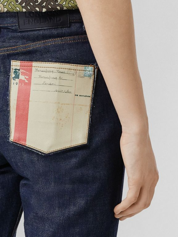 Straight Fit Japanese Selvedge Denim Jeans in Indigo - Women | Burberry Singapore - cell image 1