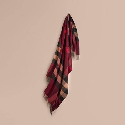 Burberry - Couverture en cachemire à motif check - 1