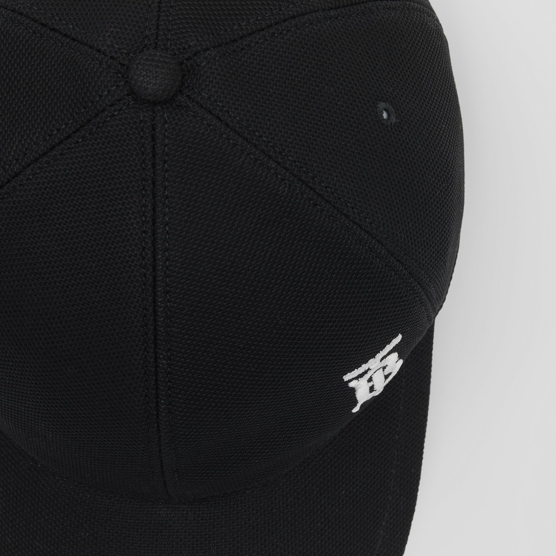 Monogram Motif Baseball Cap in Black | Burberry United Kingdom - gallery image 1
