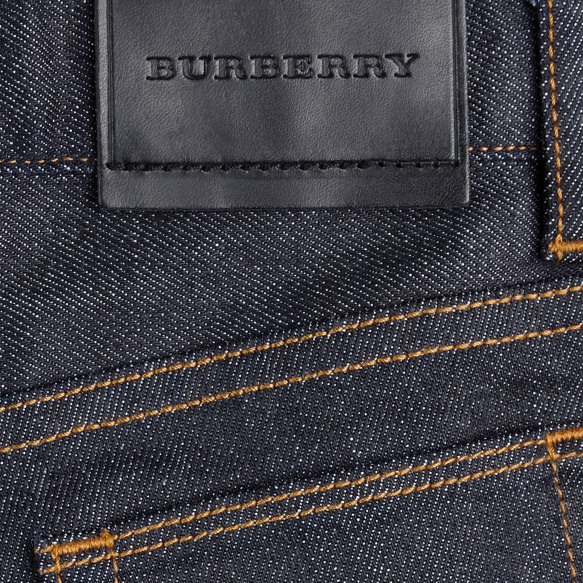 Dark indigo Skinny Fit Stretch Indigo Jeans - gallery image 2