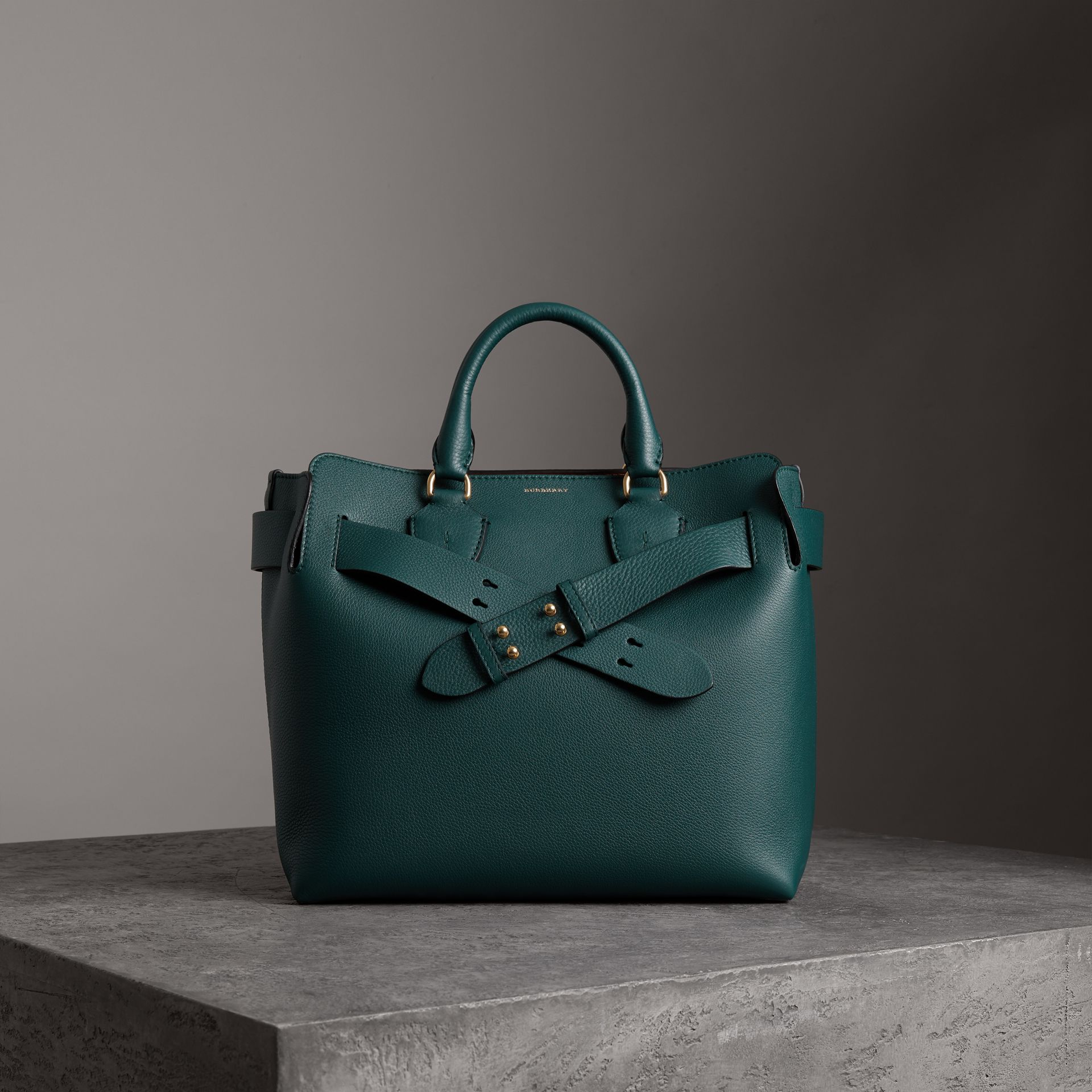 The Medium Leather Belt Bag in Dark Cyan - Women | Burberry - gallery image 0