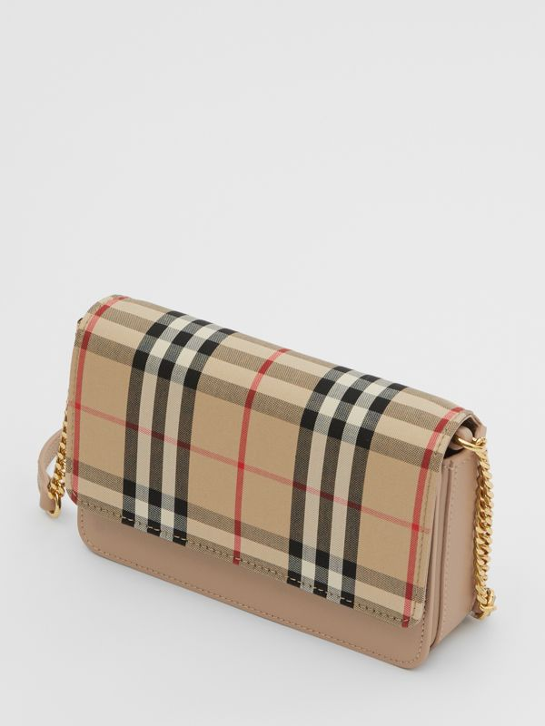 Vintage Check Canvas and Leather Bag in Honey - Women | Burberry - cell image 2