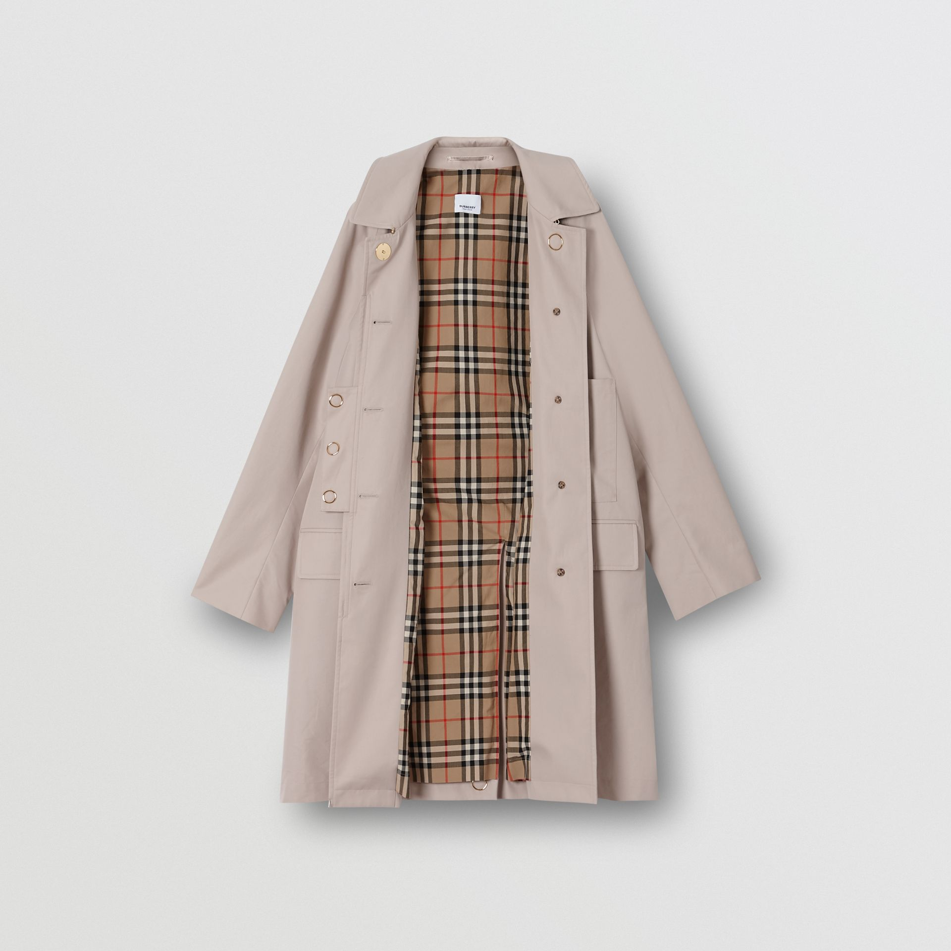 Cotton Gabardine Car Coat in Pale Blush - Women | Burberry United States - gallery image 7