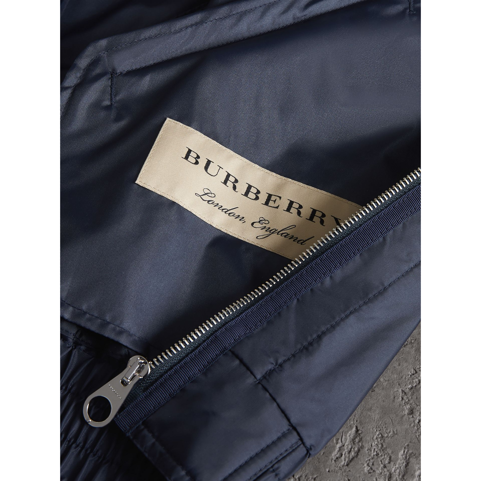 Lightweight Showerproof Bomber Jacket in Navy - Men | Burberry United Kingdom - gallery image 1