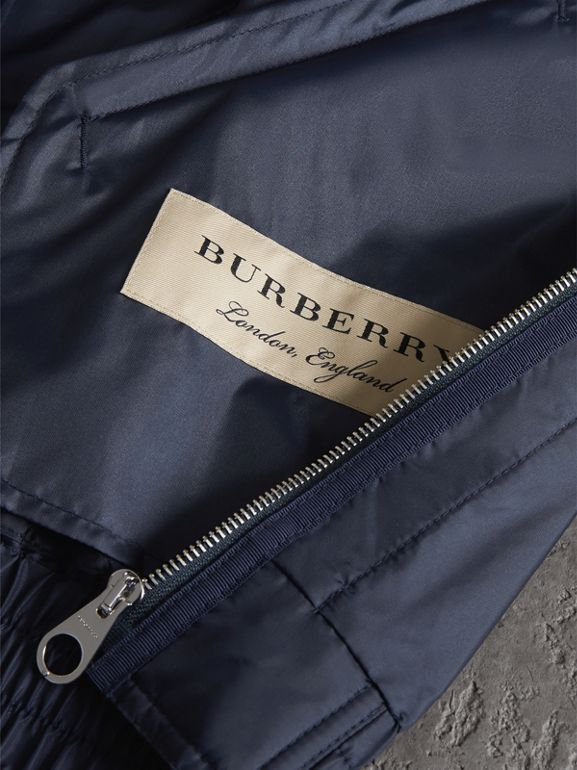 Lightweight Showerproof Bomber Jacket in Navy - Men | Burberry Canada - cell image 1