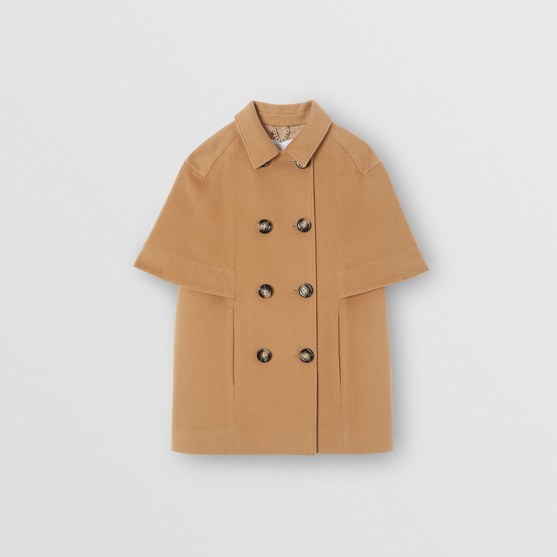 Manteau-cape en cachemire (Sable Foncé) | Burberry Canada - photo de la galerie 0
