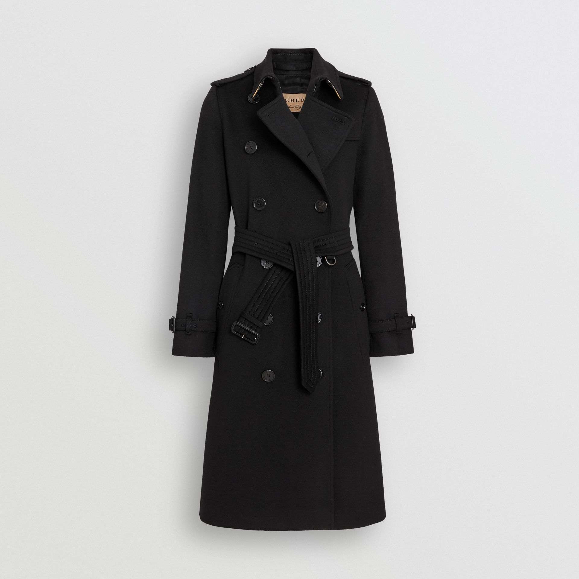 Cashmere Trench Coat in Black - Women | Burberry Canada - gallery image 4